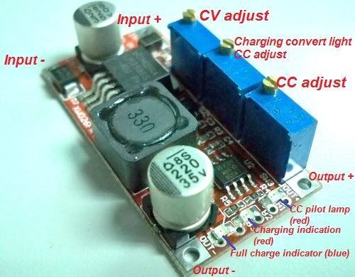 LM2596S DC-DC Step-Down power supply. Picture made by coachlam.